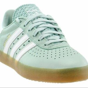 Women's Adidas 350 leather/mint green